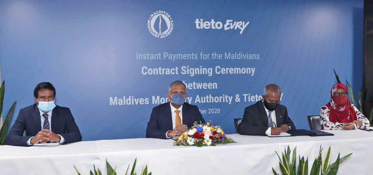 Maldives Monetary Authority signs agreement with TietoEVRY for instant payments system [with access for account information providers / payment service providers]...